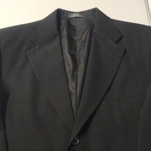 Men's Black Suit Sport Coat 38R - Medium